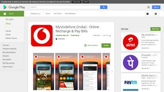 MyVodafone (India) - Online Recharge & Pay Bills - Apps on Google ...