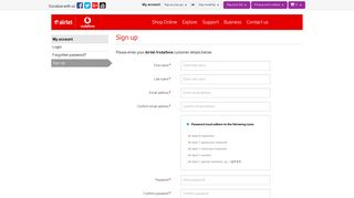 Sign up | My account | Airtel-Vodafone