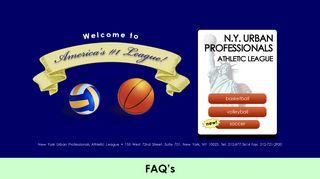 NY Urban - #1 NYC Basketball League & NYC Volleyball League.