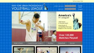 NY Urban Professionals League / #1 NYC Volleyball League