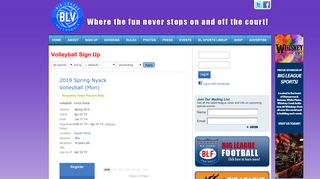 Volleyball Sign Up « Big League Volleyball