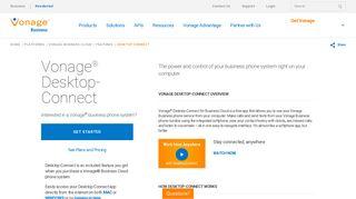 Vonage® Desktop-Connect Business Softphone   Vonage Business