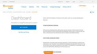 Phone Dashboard   Vonage Business