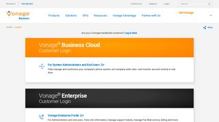 Account login   Vonage Business