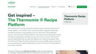 Thermomix Recipe Platform - Vorwerk Thermomix
