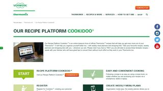 Our Recipe Platform Cookidoo® | Thermomix UK