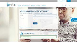 Espace client Kiosk VTX. Gestion de votre boîte E-mail et de vos ...