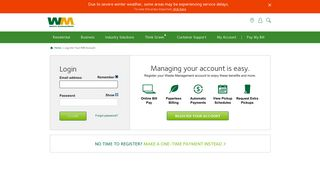 Log into Your WM Account   Waste Management