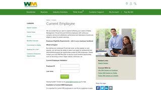 Current Employee Login - Waste Management
