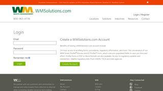 Account Login   WMSolutions.com