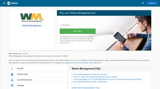 Waste Management: Login, Bill Pay, Customer Service and Care Sign-In