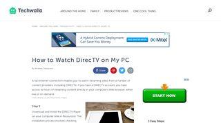 How to Watch DirecTV on My PC | Techwalla.com