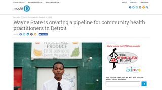 Wayne State is creating a pipeline for community health practitioners ...