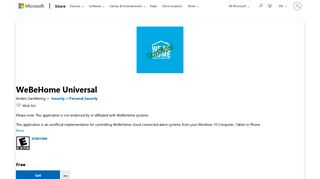 Get WeBeHome Universal - Microsoft Store