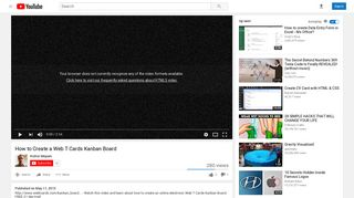 How to Create a Web T Cards Kanban Board - YouTube