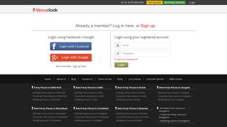 Login or Sign up | VenueLook