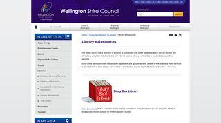 Wellington Shire Council Library e-Resources