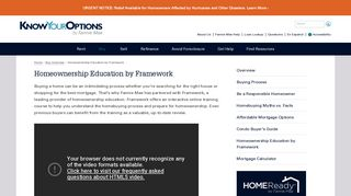 Homeownership Education by Framework : Know Your Options