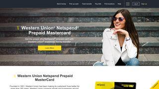 Western Union® NetSpend® prepaid MasterCard®   Western Union US