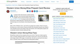 Western Union MoneyWise Prepaid Card Review - The Dough Roller
