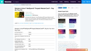 Western Union NetSpend Prepaid MasterCard - Pay As You Go Reviews