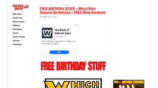 FREE BIRTHDAY STUFF – Which Wich Superior Sandwiches – FREE ...