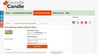 Free Birthday Meals-Which Wich - FavoriteCandle