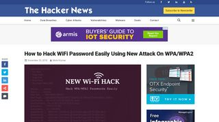 How to Hack WiFi Password Easily Using New Attack On WPA/WPA2