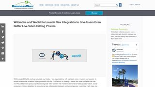 Wildmoka and Wochit to Launch New Integration to Give Users Even ...