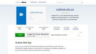 Outlook.wlu.ca website. Outlook Web App.