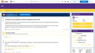 Trying to set up mylaurier email, looking for server info : wlu ...