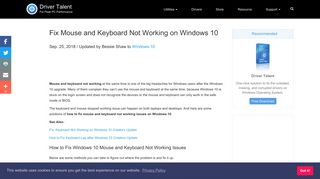 Fix Mouse and Keyboard Not Working on Windows 10   Driver Talent