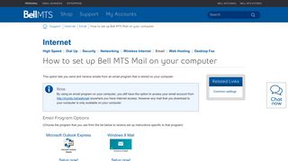 How to set up Bell MTS Mail on your computer | MTS