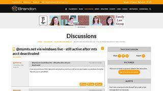 @mymts.net via windows live - still active after mts acct ...