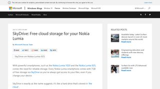 SkyDrive: Free cloud storage for your Nokia Lumia | Microsoft Devices ...