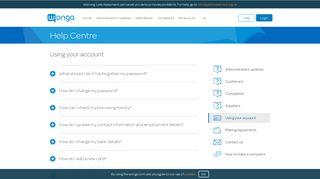 Using your account | Wonga