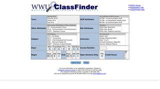 ClassFinder - Western Washington University