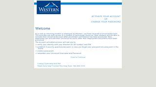 activate your account - Western Washington University