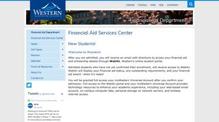 Web4U - New Students | Financial Aid | Western Washington University