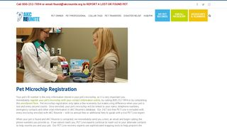 Pet Microchip Registration   AKC Reunite