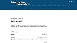 Brightree LLC   Healthcare Informatics 100