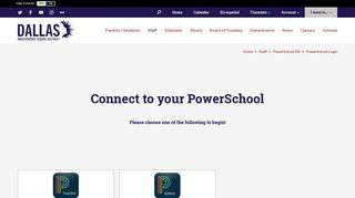PowerSchool SIS / PowerSchool Login - Dallas ISD