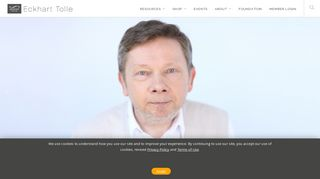 Home - Eckhart Tolle   Official Site - Spiritual Teachings and Tools For ...