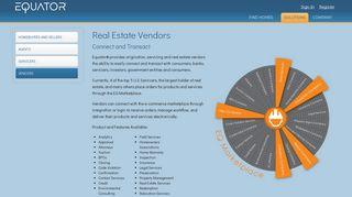 Real Estate Vendor Marketplace - EQUATOR