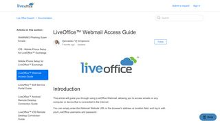 LiveOffice™ Webmail Access Guide – Live Office Support