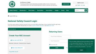 Login to NSC.org - National Safety Council