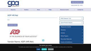 ADP HR.Net - HR Software, Payroll Software, HRIS, HR & Payroll ...