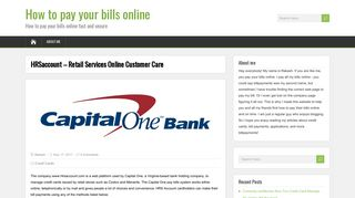 HRSaccount - Retail Services Online Customer Care - How to pay ...