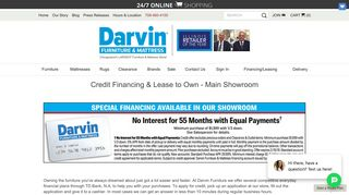 Credit and Financing   Orland Park, Chicago, IL   Darvin Furniture