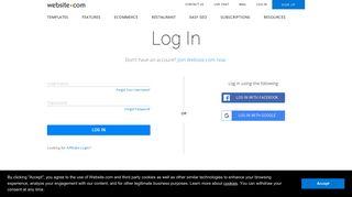 Log in — Website.com